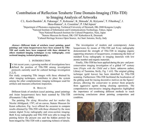 Contribution of Reflection Terahertz Time Domain-Imaging (THz-TDI)