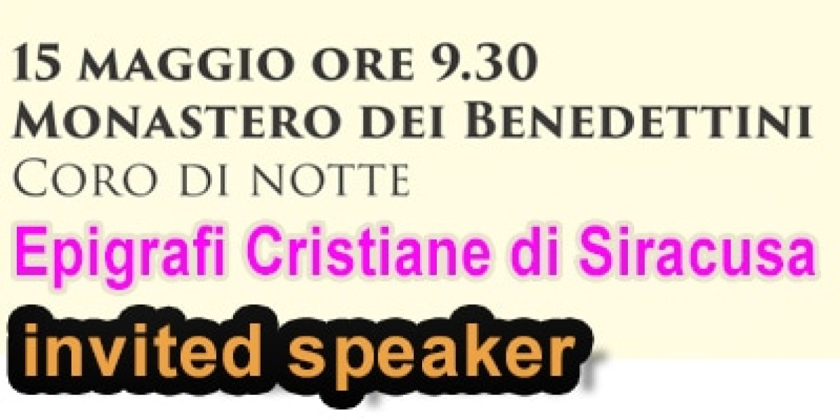 Workshop Epigrafi Cristiane in Siracusa. 15 Maggio 2015