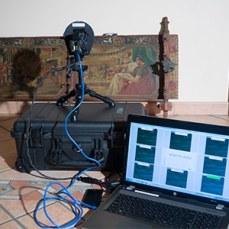 Pixelteq multispectral camera documenting a Sicilian cart piece