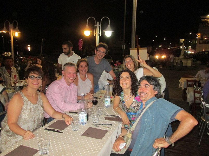 Pizza in Aci Trezza with Marco, Antonino and friends