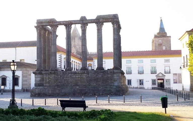 The Diana's Temple in Evora
