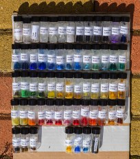 Pigments Checker samples ready to ship for chemical analysis