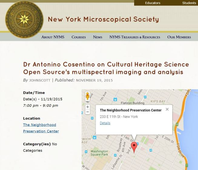 Cosentino Multispectral Imaging New York Microscopical Society