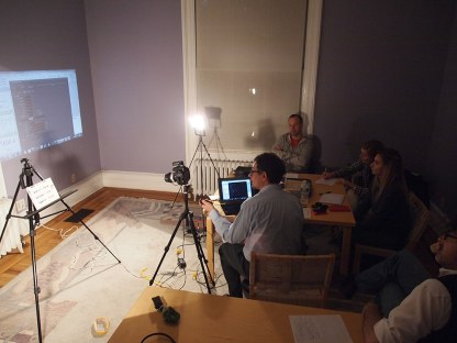 Multispectral Imaging Training. Neighborhood Preservation Center, New York City.