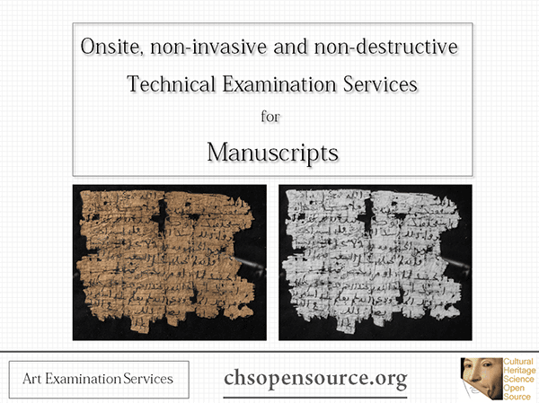 Technical examination services for manuscripts