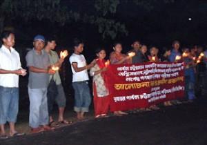 Photo-2 Candle light vigil longudu