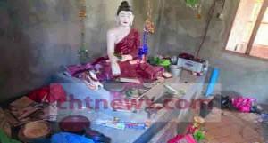 চৈত্যাদর্শ বৌদ্ধ বিহারে এভাবে জিনিসপত্র  ভাংচুর ও তছনছ করে দেয়া হয়