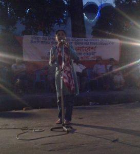 ঢাকায় যৌন নিপীড়নের বিরুদ্ধে সংহতি সমাবশে উপস্থিত নেতৃবৃন্দ