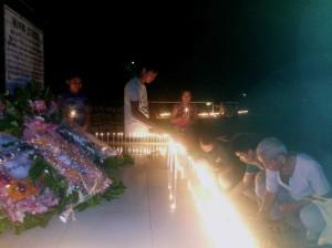 শহীদ রূপক চাকমার স্মরণে হাজার বাতি প্রজ্জ্বলন করা হচ্ছে