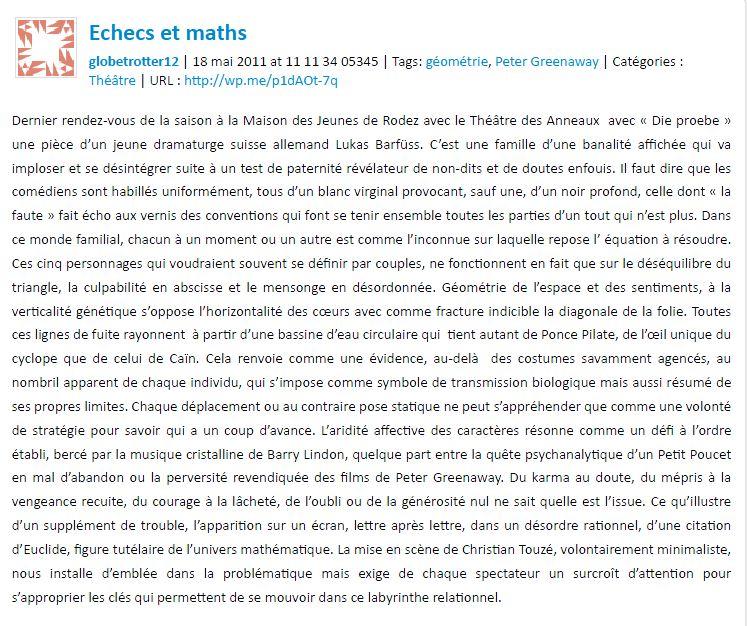Echecs et math