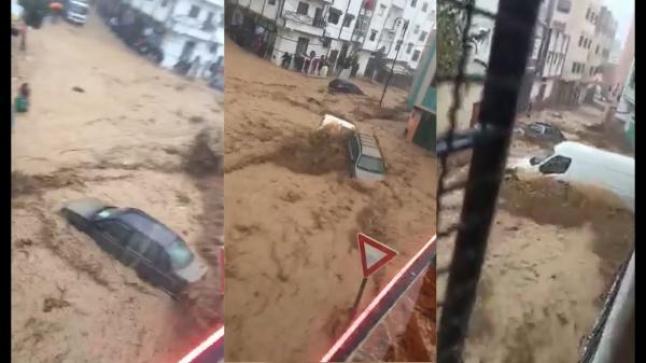 بالفيديو و بالصور..امطار رعدية تغرق شوارع تطوان و تتسبب في اضرار كبيرة