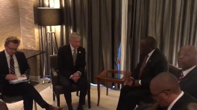 """""""هورست كولر"""" ورئيس جنوب إفريقيا.. في لقاء تخللته محادثات حول قضية الصحراء"""