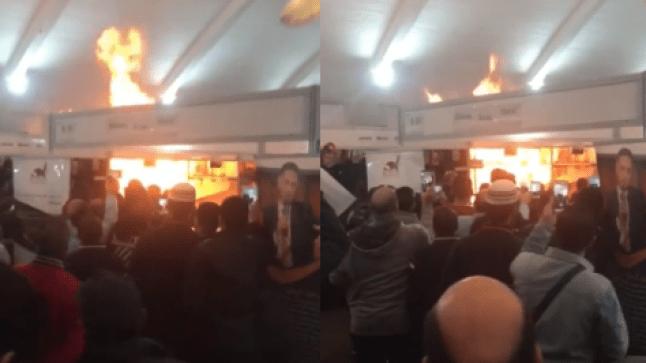 حريق بمعرض الكتاب في الدار البيضاء يثير موجة من الهلع..