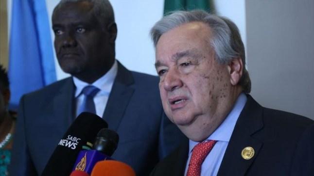 غوتيريز يشيد بدور الاتحاد الإفريقي في حل النزاعات