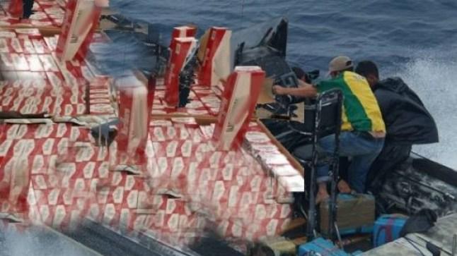 الداخلة: البحرية الملكية تحبط عملية تهريب 10 أطنان من السجائر!