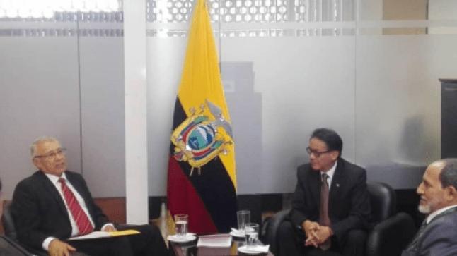 وفد عن جبهة البوليساريو يحل ضيفا على لجنة العلاقات الدولية في الجمعية الوطنية الإكوادورية..