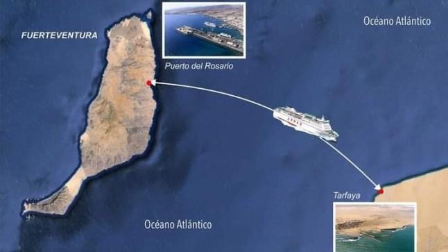 المغرب يطلق خطاً بحرياً بين ميناء طرفاية و جزر الكناري !