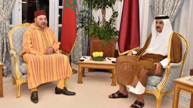 الملك محمد السادس وأمير قطر يبحثان تعزيز العلاقات الثنائية وسط أنباء عن قرب نهاية الأزمة الخليجية