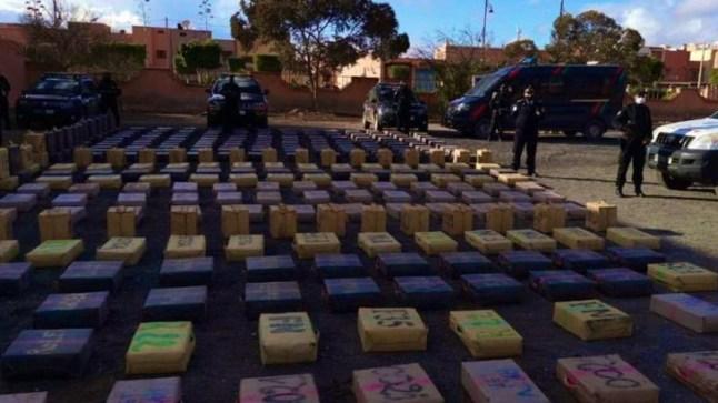 إحباط عملية للتهريب الدولي للمخدرات بكلميم وحجزتسعة أطنان من المخدرات كانت مطمورة تحت الرمال
