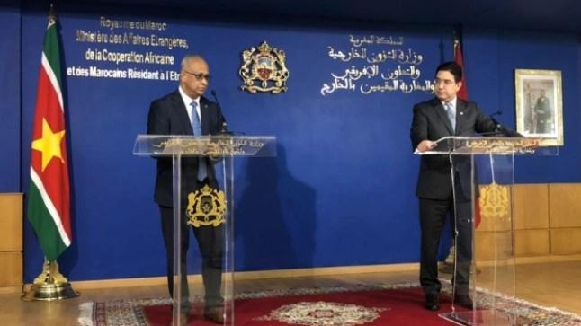 سورينام تقرر فتح قنصلية بالداخلة وسفارة بالرباط