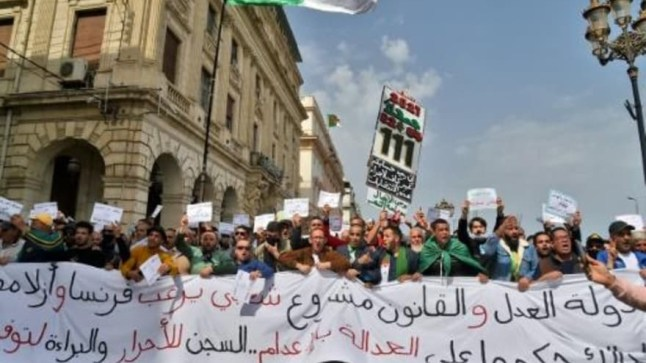 متظاهرو الحراك الاحتجاجي الجزائري يطالبون باستقلالية القضاء