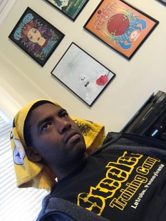 LOL... this is what I look like when Tom Brady and the New England Patriots are destroying my Steelers in the AFC championship game.
