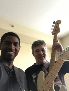 Early Saturday morning jam session with a friend