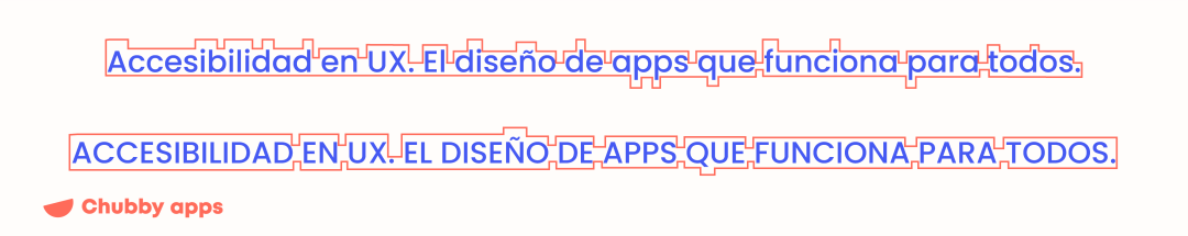 The difference between text in mayúscula and minuscule