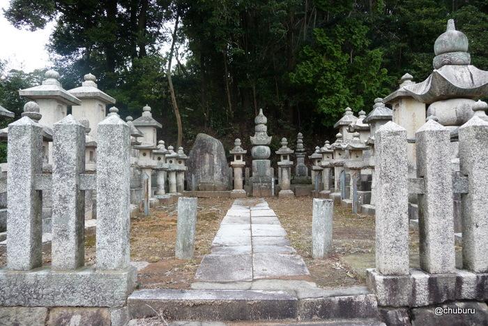 旧清末藩主毛利家墓地(高林寺)