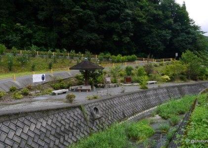 道の駅とダムを巡る旅 その3山頭火句碑があった。(佐藤咲野実家近く)
