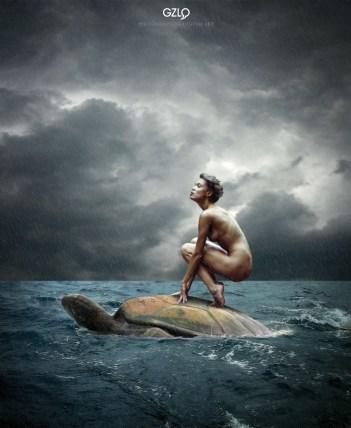 Photocreation: Gonzalo Villar - Model: Oksana Chucha - Photo of Model: Maxim Chuprin