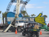 Hangout Music Fest Sign is going up