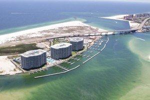 Caribe Condominiums Orange Beach Aerial Photo South