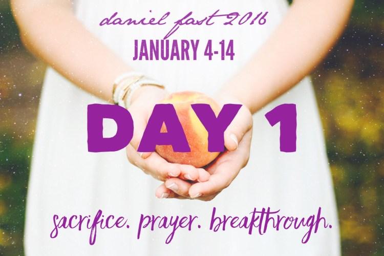 Daniel Fast Day 1