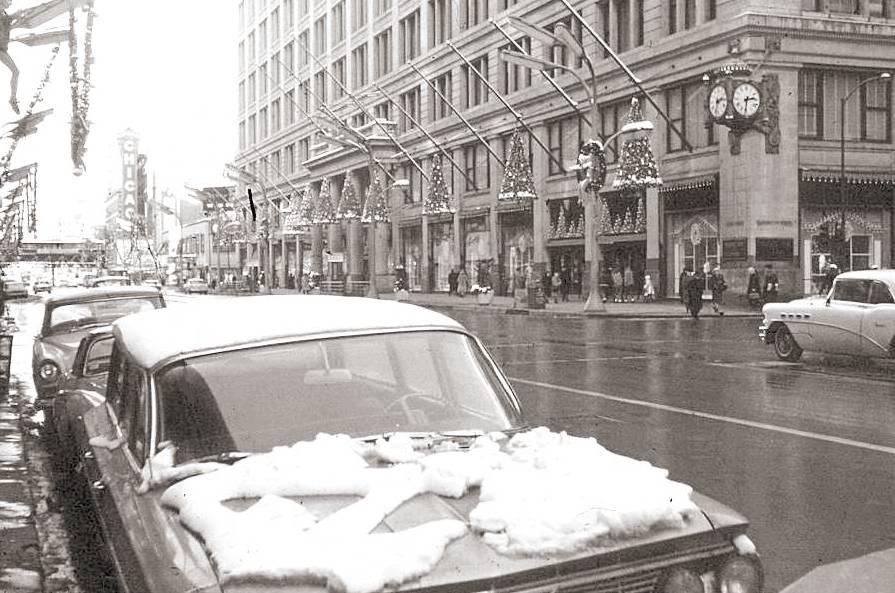 Photo Chicago State Street Christmas Season Fields