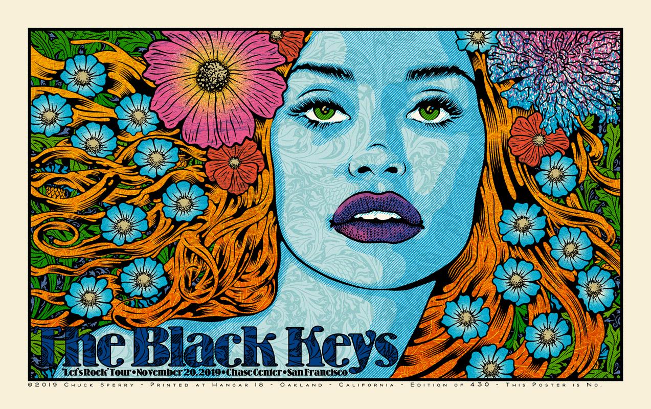 black keys la sf posters by sperry