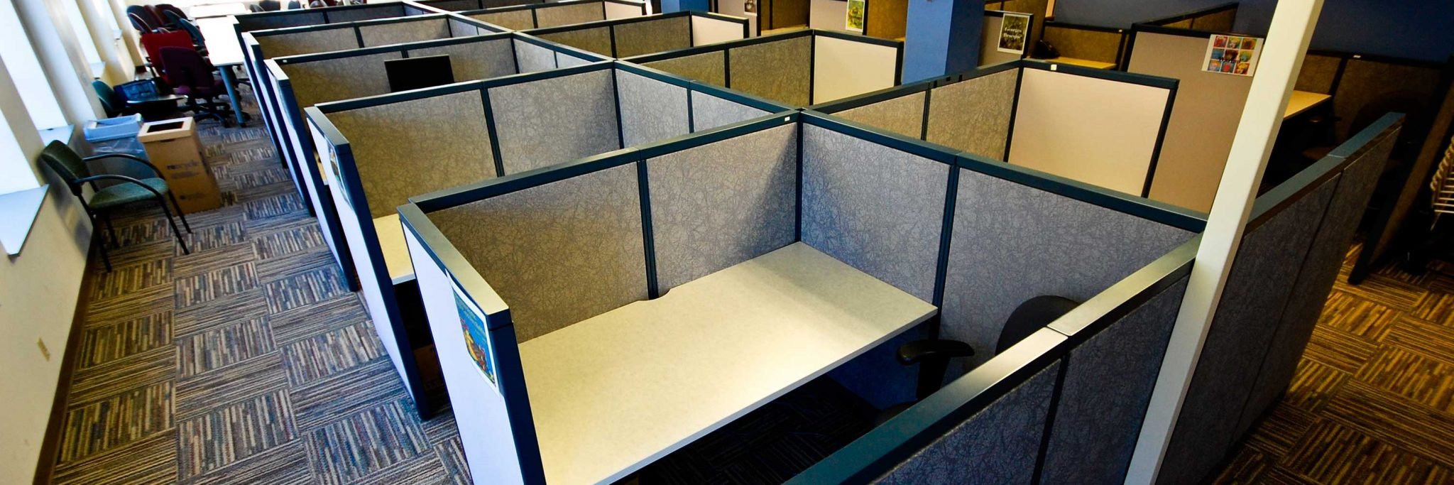 Commercial Junk Removal Services Banner - Picture of office cubical space