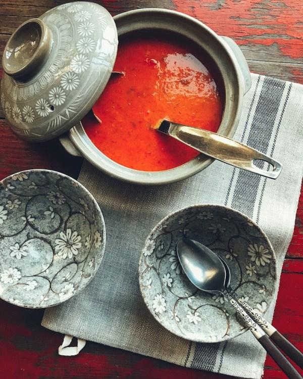 tomato-coconut soup