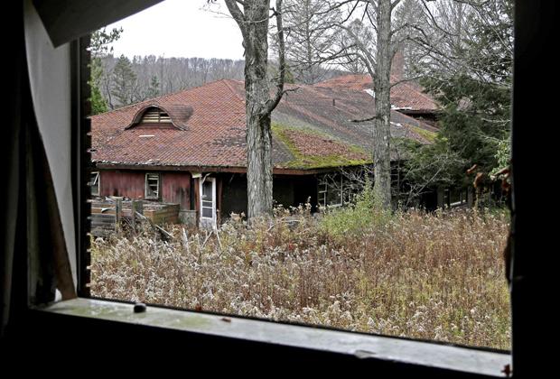 Заброшенный горнолыжный курорт Гроссинджер, штат Нью-Йорк, США