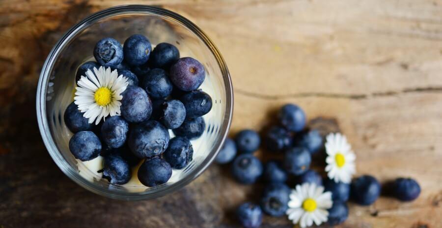 ovocná diéta - čučoriedky