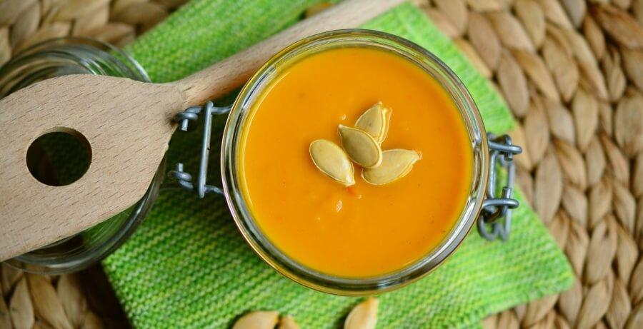polievka - kokosový olej