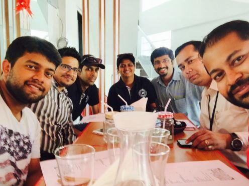 The B Team, Mr. Asim, Ms. Aditi and Mr. Prasanna