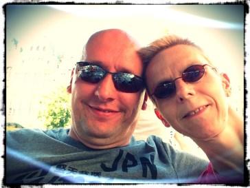 Lekker op een terrasje met 'the love of my life'