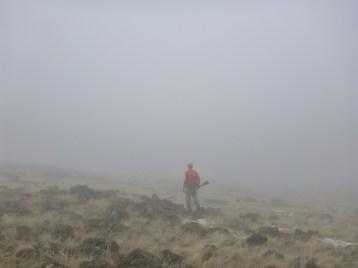 foggy chukar hunting