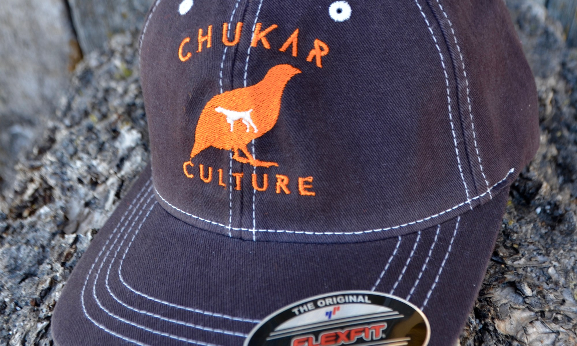 8dc52f93d068b Chukar Culture Brown Flexfit Hat