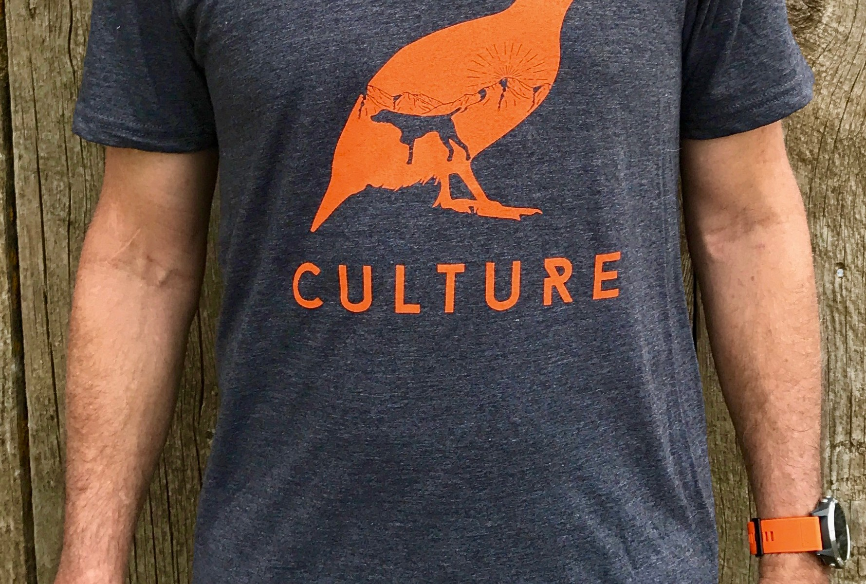 Heathered Charcoal Chukar Culture T-shirt