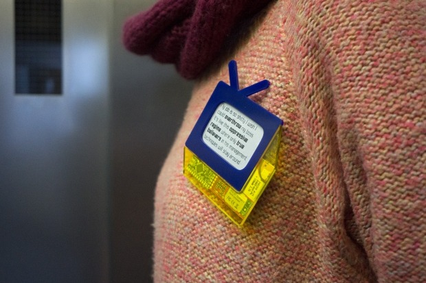 'Open Informant' attempts to confront the unsettling realties of surveillance in a networked age. Open Informant is a phone app and e-ink badge. The app searches your communications for these NSA trigger words and then sends text fragments containing...
