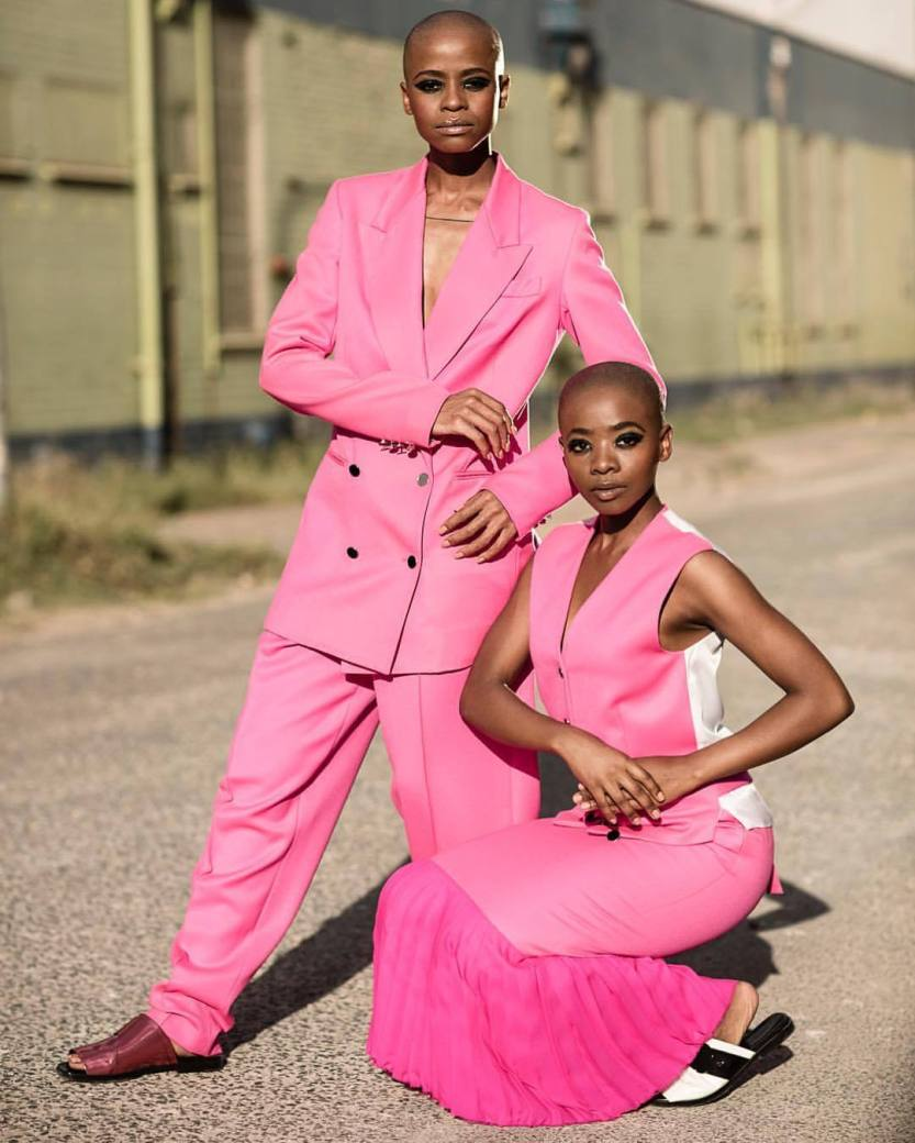 "mrmofosaunders: "" Manthe Ribane / @ribaneribane and her sister Tebogo Ribane / @113_studios in classic man & women pose. Poses meant to separate, help differentiate and create divides. Does it matter in a modern context? Clothing by @edun #futuresula..."