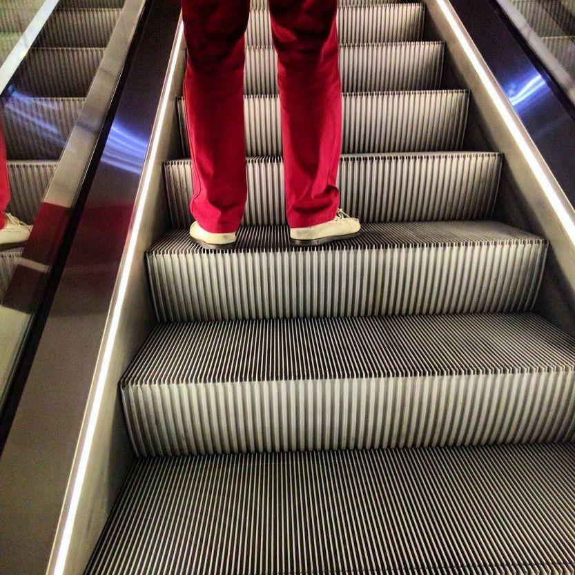 Disco escalator. http://ift.tt/2dfe47q