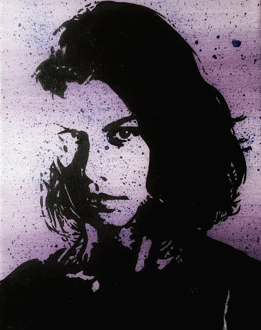 "walkrstalkr: ""Maggie Rhee, acrylic 8x10 canvas """